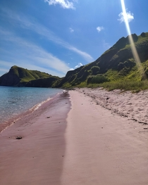 Pink Beach Komodo National Park Indonesia  IG yashkuz