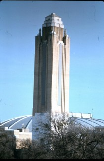 Pioneer Tower and Will Rogers Memorial Coliseum in Fort Worth Texas  Architect Wyatt C Hedrick built in   Picture circa