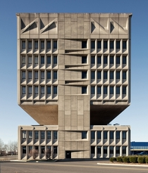 Pirelli Tire Building in New Haven CT  by Marcel Breuer