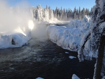 Pisew Falls Northern Manitoba January
