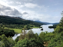 Pitlochry Scotland at the Queens View Visitors Center -