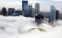 Pittsburgh in the fog by Darrell Sapp