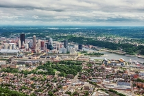 Pittsburgh PA - aerial shot from the North Shore More in comments