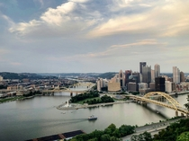 Pittsburgh PA from the Duquesne Incline