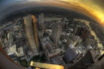 Pittsburgh PA sunset from atop the tallest building in the city