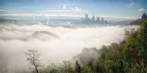 Pittsburgh with a river of fog