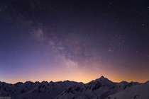 Piz Badus and the milky way Switzerland