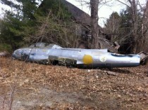 Plane Fuselage found on old airfield in CT