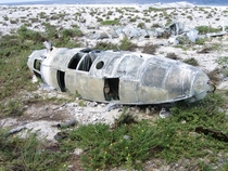 Plane wreckage from  on Howland Island deep in the Ocean halfway between Hawaii and Australia by Joann at enwikipedia