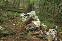 Plane wreckage in Spruce Knob Recreation Area WV