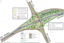 Planned Diverging Diamond Interchange on the N and N in Louvain La Neuve Belgium