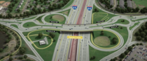 Planned Dogbone-Partial Cloverleaf Interchange on I- at Nuttley Street in Fairfax Virginia