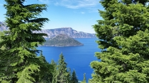 Playing Peek-a-Boo with Crater Lake Oregon