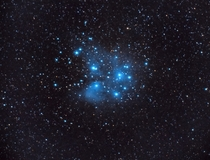 Pleiades M untracked from my backyard