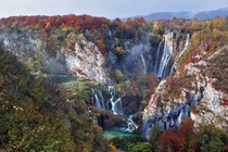 Plitvice Lakes in autumn by Vedrana Tafra