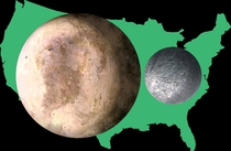Pluto amp Charon compared to the USA