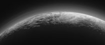 Pluto Backlit Panorama