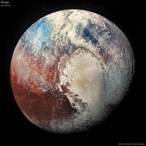 Pluto Colorized IR Credit NASA  JHU-APL