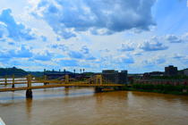 PNC Park Bridges Beautiful Skyand Muddy Waterslt Pittsburgh PA