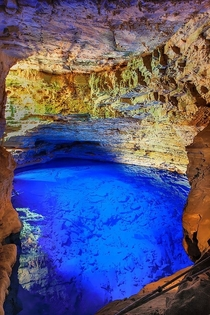 Poco Encantado Cave Chapada Diamantina Brasil  photo by foto on tumblr