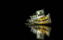 Point Reyes Shipwreck at Midnight