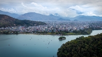 Pokhara Nepal from the World Peace Pagoda