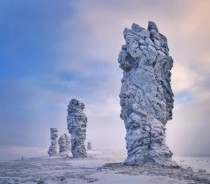 Poles of the Komi republic Russia