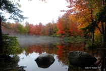 Pond in Durham Maine in the fall   Victor Ho