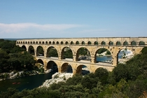 Pont du Gard - A  year old aqueduct in southern France