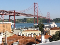 Ponte  de Abril  also known as the Portuguese Golden Gate