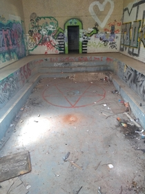 Pool in an abandoned hostpital