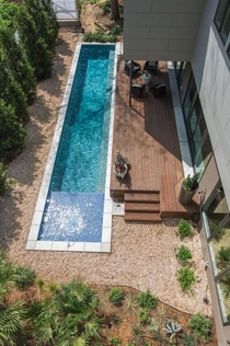 Pool oasis in Atlanta with large deck