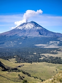 Popocatepetl Volcano Puebla Mexico Last Saturday hiking