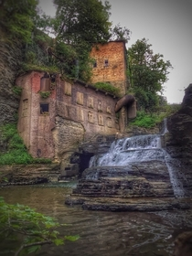 Popular swimming hole in Ithaca NY