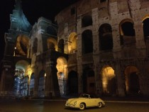 Porsche A in front of the Colosseum in Rome