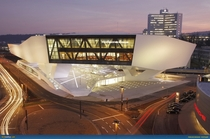 Porsche Museum in Stuttgart Germany designed by Delugan Meissl