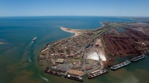Port Hedland Australia the largest iron ore loading port in Australia