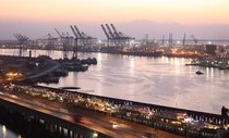 Port of Karachi and The Native Jetty Bridge at Dusk  By Nadeem A Khan  x-post rExplorePakistan