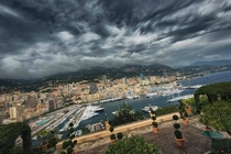 Port of Monaco as seen from the Ministre dEtat terrace