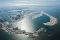 Port of Rotterdam the Netherlands - construction of the Tweede Maasvlakte in June