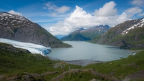 Portage Glacier in Alaska used to go all the way around the bend This is a vantage that most people have never seen