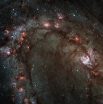 Portion of the galaxy M showing the starbirth Taken by Hubble Space Telescope
