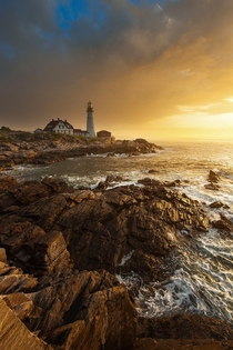 Portland Head Lighthouse Maine by Joseph Rossbach