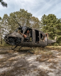 Portrait with Abandoned Military Helicopter
