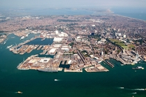 Portsmouth England home of the Royal Navys oldest and largest dockyard xp raerialporn