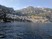 Positano Italy from the Mediterranean