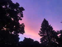 post-storm pink and purple southeastern wisconsin