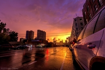Post-Thunderstorm Sunset Long Island City NYC    Adam Salberg