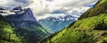 Post torrential hailstorm the sun dances over mountains and valleys of Glacier National Park Outdoors For Everyone Project