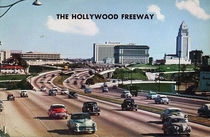 Postcard of the The Hollywood Freeway in the s
